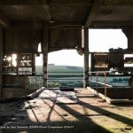 This bold and very modern image by Isaac Kennedy contrasts the derelict industry of Shoreham Cement Works against the green rolling hills of the Adur Valley, winning him second place. There is so much to say about this photograph, it has immediate and graphic appeal. You could almost be in a church. It tells a story of enduring landscapes and the temporary nature of a building which only existed to mine and exploit the chalk these hills are made from.