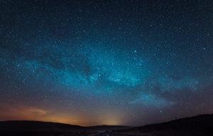A dark night sky